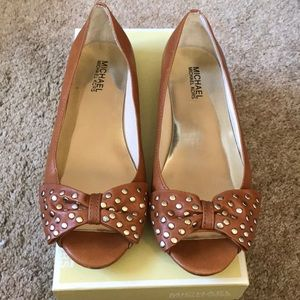 Michael Kors Meredith Studded Bow Flat